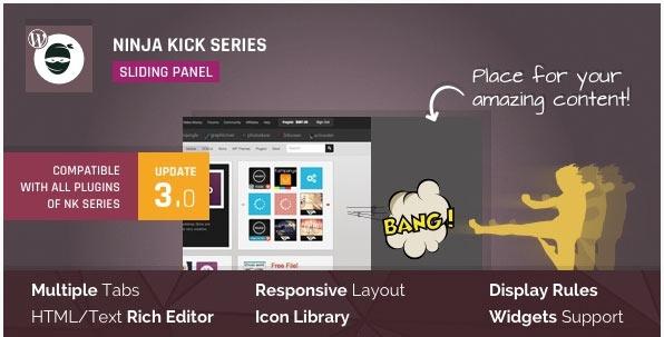 [워드프레스] 슬라이딩 패널 플러그인 – Ninja Kick