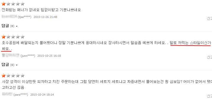Naverに上がってきたいくつかのプレンチャイアップデート店舗のユーザー評価
