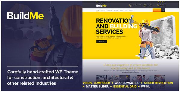 BuildMe - 워드프레스 건설 건축 테마