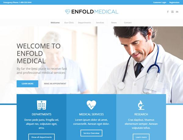 [워드프레스] 병원/의료기관/건강 관련 사이트용 테마