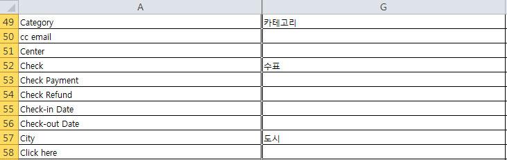 엑셀 파일 번역