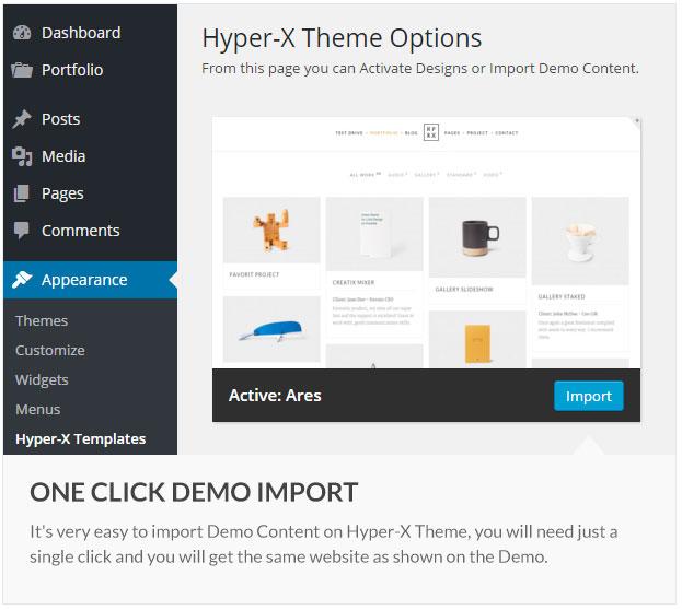 Hyper-X-Theme-Options