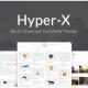 HyperX - 프리랜서와 에이전시를 위한 포트폴리오 테마