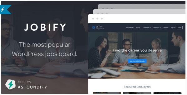 [워드프레스] 취업 포털(Job Board)용 테마 – Jobify