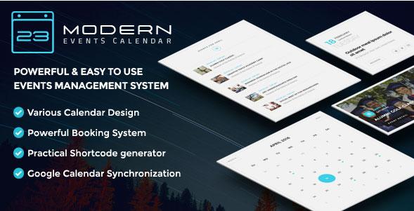 워드프레스 이벤트 스케줄러 및 예약 플러그인 – Modern Events Calendar