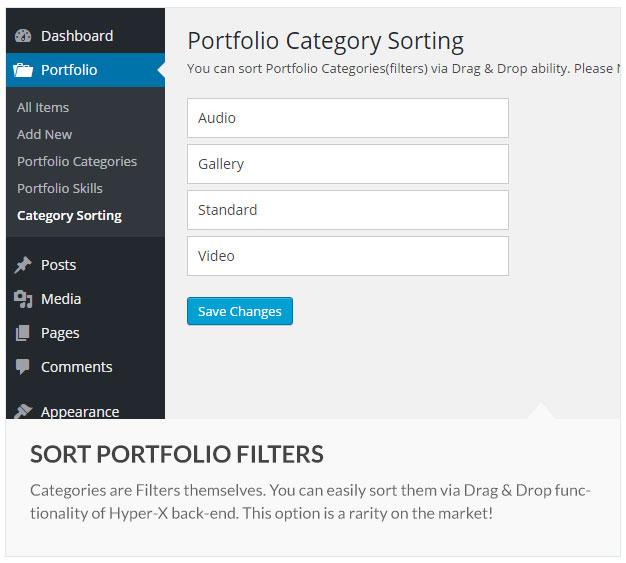 Sort-Portfolio-Filters