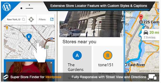점포 찾기 플러그인 - Super Store Finder(워드프레스)