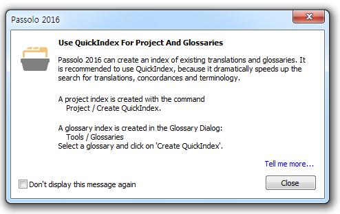 Use QuickIndex