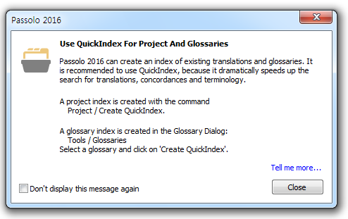 Use QuickIndex