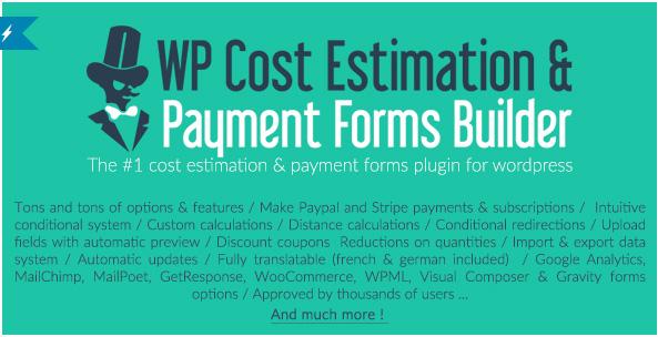 ワードプレスのコスト見積もりと請求フォームビルダープラグインのコスト計算機