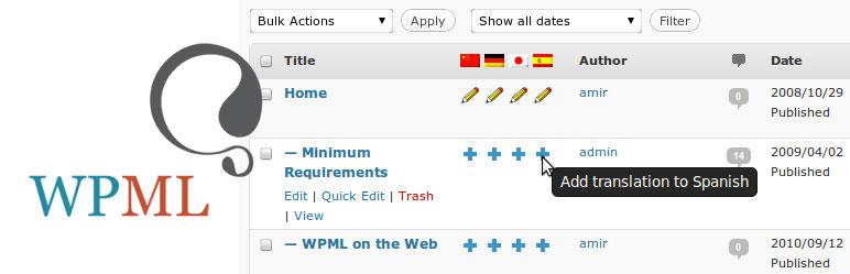 WPML  -  WordPress 多言語プラグイン