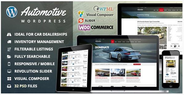 [워드프레스] Automotive – 자동차 대리점 비즈니스 테마