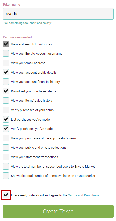 Invalid token' message when you try to register the Avada