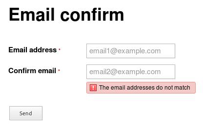 Quform에서 이메일 확인