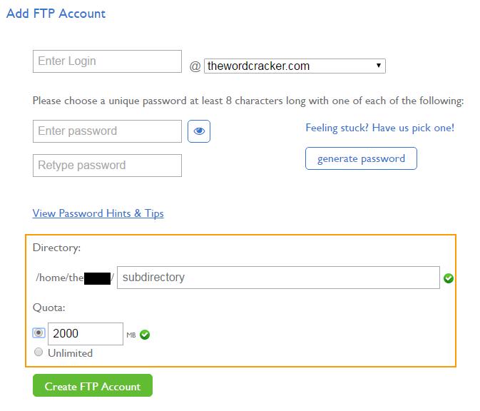 [해외 호스팅] Bluehost에서 특정 폴더에만 접근 가능한 FTP 계정 만들기
