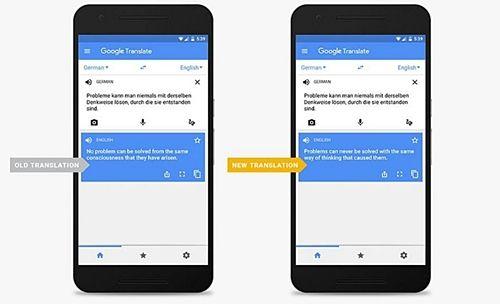 구글의 인공신경망 번역