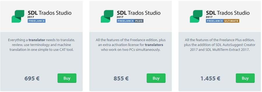 SDL Trados Studio 2017 구입