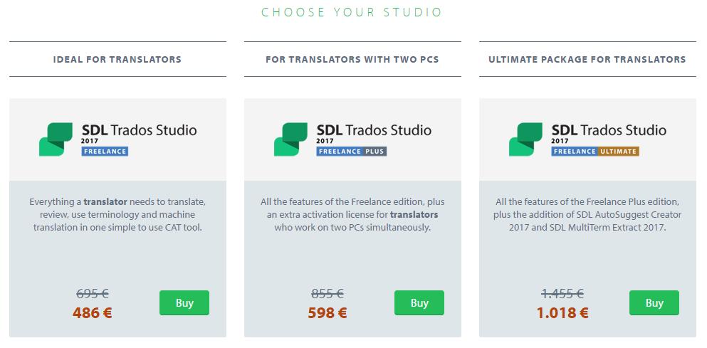[번역] SDL Trados Studio 2017 블랙 프라이데이 30% 할인