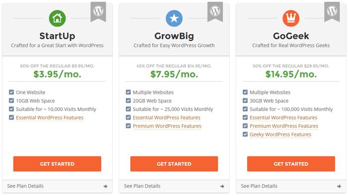 SiteGround 공유 서비스