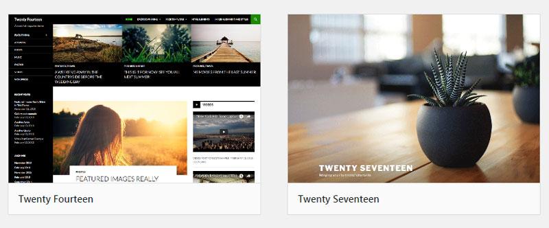 Twenty Seventeen 테마