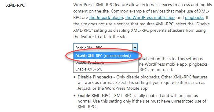 워드프레스 XML-RPC 비활성화하기