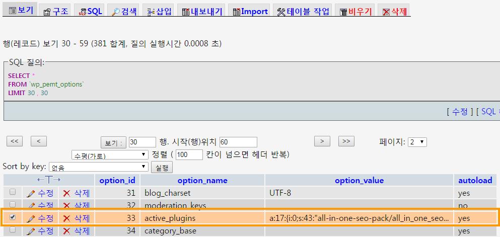 Deactivate a specific plugin via phpMyAdmin in WordPress