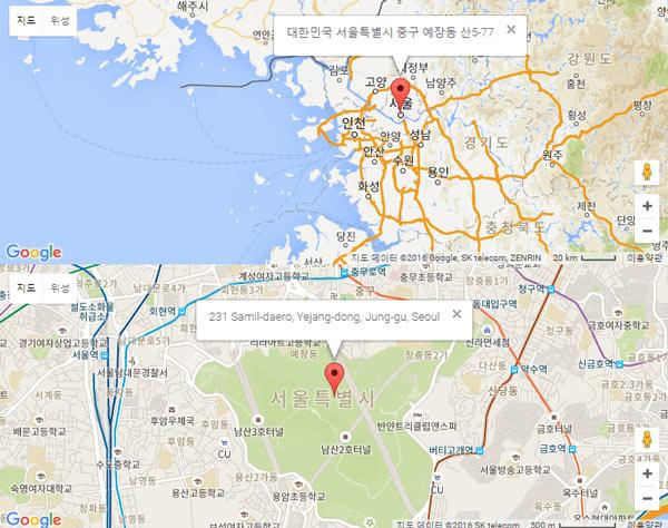 [워드프레스] 아바다 테마에서 구글 지도 삽입하기