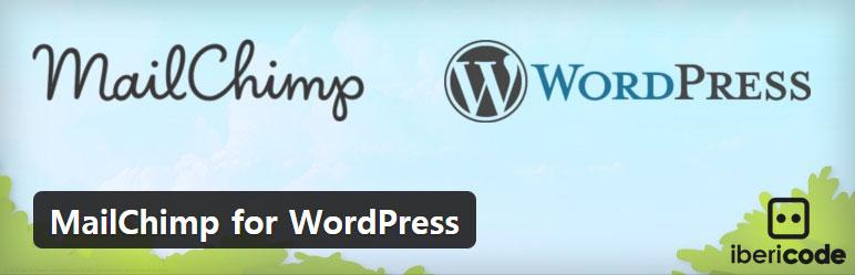 워드프레스 뉴스레터 가입 플러그인 – MailChimp for WordPress