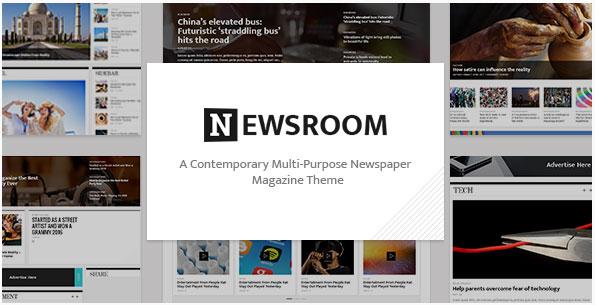 워드프레스 매거진 스타일 테마 – Newsroom