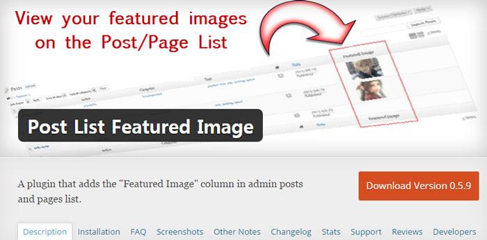 워드프레스 관리자 페이지에서 글 목록에 특성 이미지 추가하기
