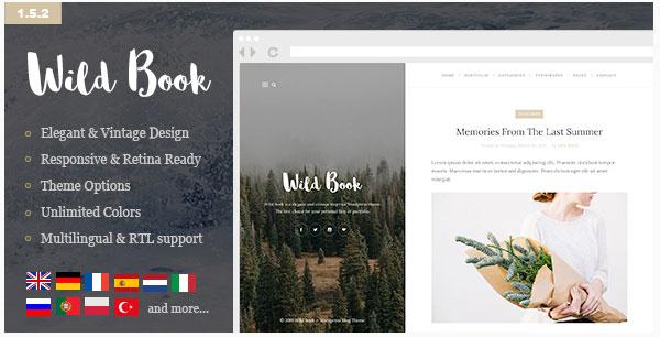 [워드프레스] 빈티지하고 세련된 개인 블로그 테마 – Wild Book