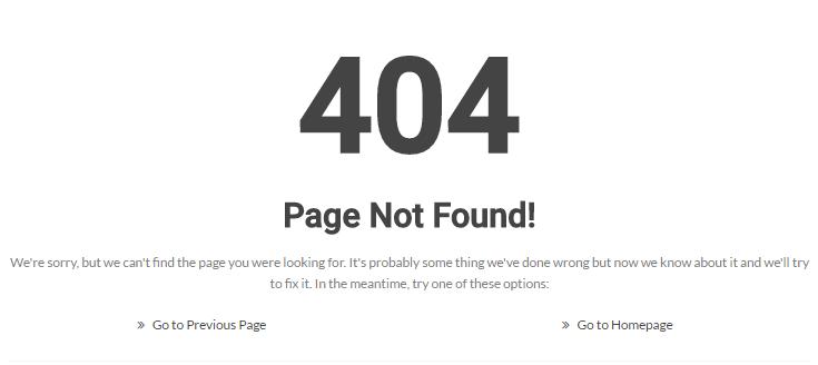 404ページが見つかりませんエラー