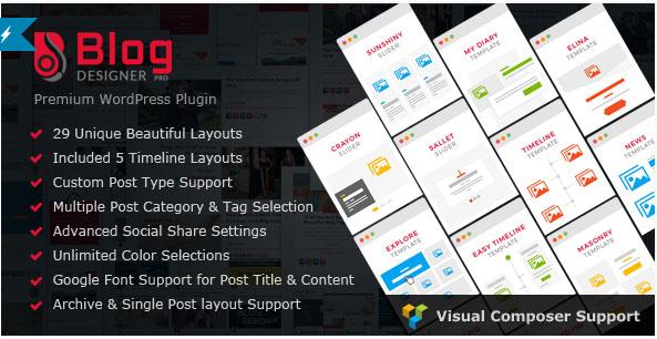 워드프레스용 블로그 템플릿 만들기 – Blog Designer PRO