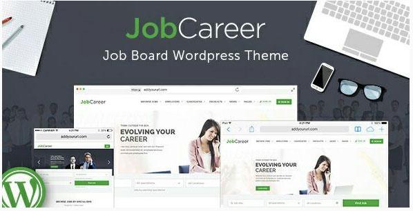 [워드프레스] 구인/구직용 취업 포털(Job Portal) 테마 – JobCareer