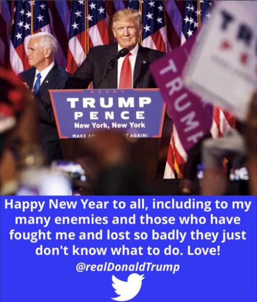 트럼프의 새해 인사말