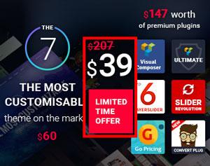 The 7 워드프레스 테마 할인 판매