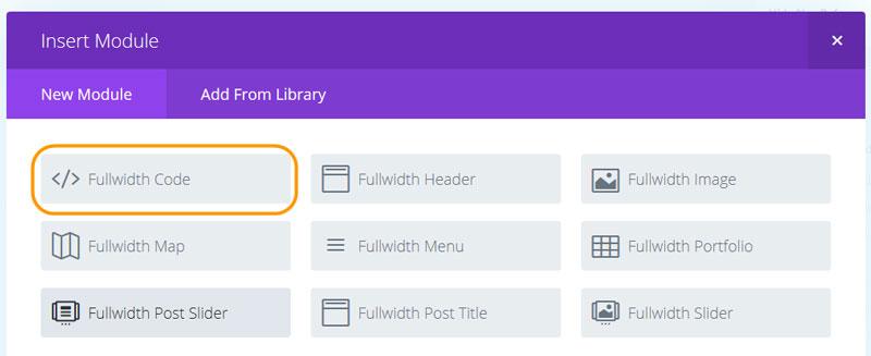 Divi BuilderのFull-width Codeモジュール