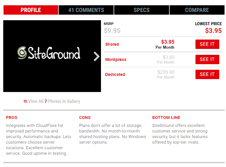 [Web Hosting] Siteground applies a uniform discount across all shared plans