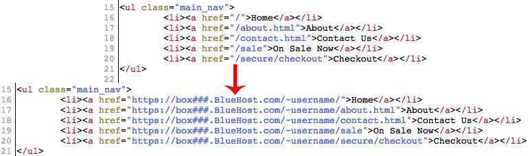 Bluehost 無料SSLハイパーリンクを変更