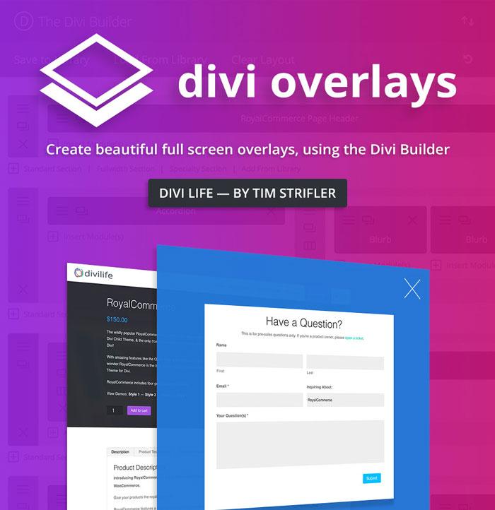 Divi divi overlays - Divi builder 2 0 7 ...
