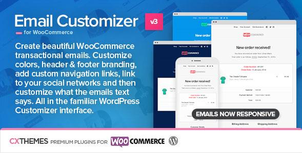 워드프레스 우커머스용 이메일 커스터마이저(Email Customizer) 플러그인