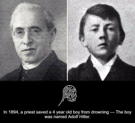 水に落ちたヒトラーを救ってくれたの司祭