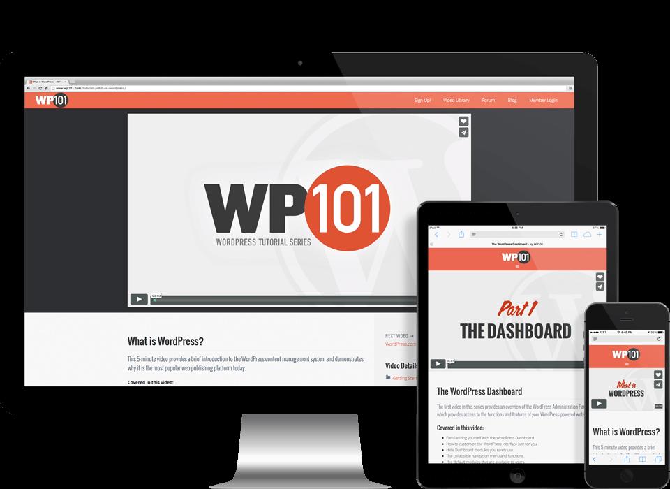 워드프레스 온라인 강의 사이트 - WP101 2