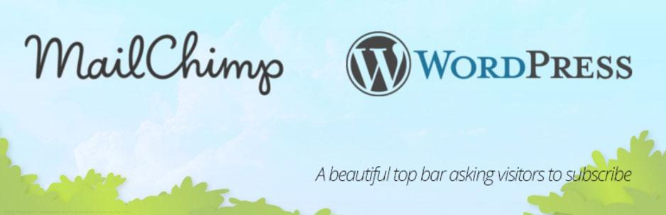 MailChimpのTopBarプラグイン