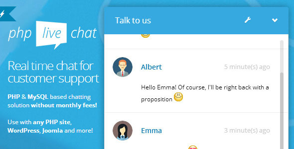 PHP 라이브 지원 채팅 스크립트 – PHP Live Support Chat