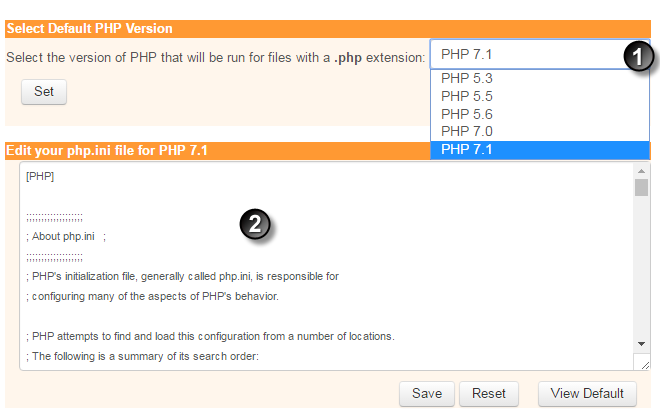 해외 호스팅 iPage - PHP 버전 변경하기