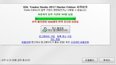 Trados スターター版の制限