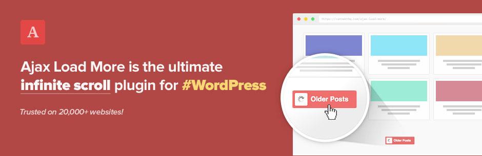 WordPress 無限スクロールLoad Moreボタンのプラグイン