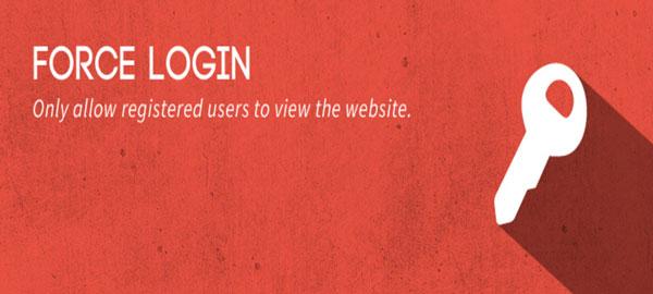로그인 사용자만 사이트에 접근하도록 제한하는 Force Login 플러그인