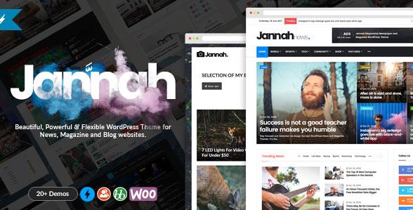 워드프레스 뉴스 매거진 블로그 & 버디프레스 테마 – Jannah
